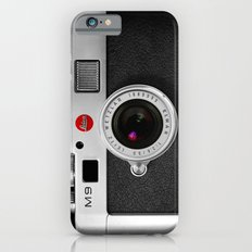classic retro Black silver Leather vintage camera iPhone 4 4s 5 5c, ipod, ipad case iPhone 6 Slim Case