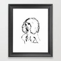 Amanda Xxx Lepore. Framed Art Print