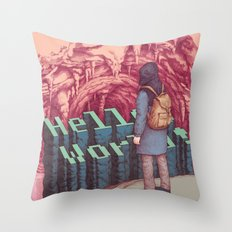 First line of the Earth Throw Pillow