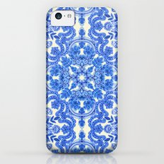 Cobalt Blue & China Whit… iPhone 5c Slim Case