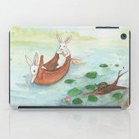 Lazy Day In The Canoe iPad Case