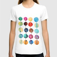 Planets Womens Fitted Tee White SMALL