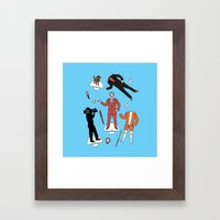 Cut It Out: Ron Burgundy Framed Art Print