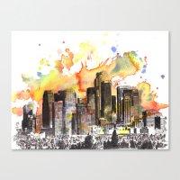 Los Angeles Cityscape Sk… Canvas Print