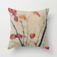 Contrasted Fall Throw Pillow