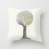 season tree Throw Pillow