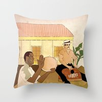 Plenazo Con Marimbola Throw Pillow