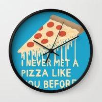Sweet Pizza Wall Clock