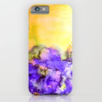 INTO ETERNITY, YELLOW AND LAVENDER PURPLE Colorful Watercolor Painting Abstract Art Floral Landscape iPhone 6 Slim Case