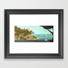 Golden Beard - Background Design Framed Art Print