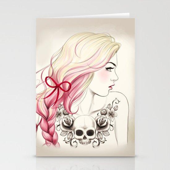 Tattoo Girl Stationery Card