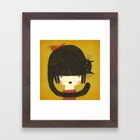 NAPPY HAT Framed Art Print