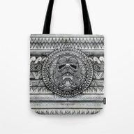 Aztec Darth Troopers Bla… Tote Bag