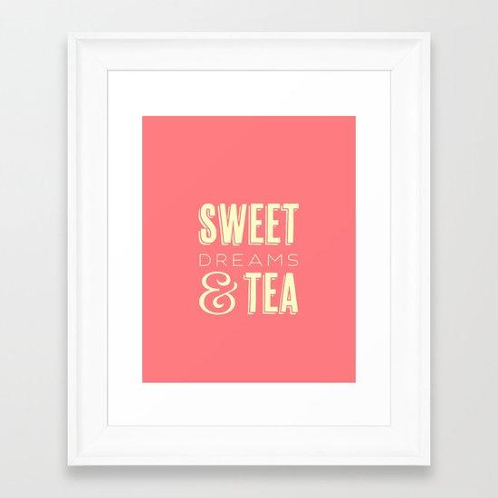 Sweet Dreams & Tea Framed Art Print