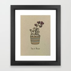 Time to Blossom Framed Art Print