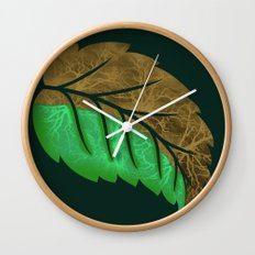 Drying Leaf Wall Clock