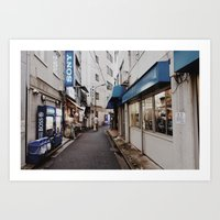 Blue Street Art Print