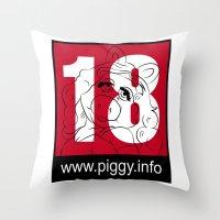 Piggy 18 Throw Pillow