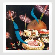 cosmic fruitcake - goofbutton collaboration #12 Art Print