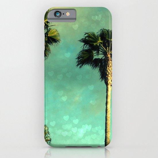 Palm Trees Heart Bokeh iPhone & iPod Case