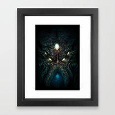 5 Eyed Cthulhu Up Close Framed Art Print