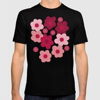 cherry blossom pop white Mens Fitted Tee Black SMALL
