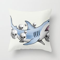 Shark & Skulls Throw Pillow