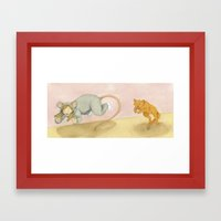 Let's play Cat and Mouse! Framed Art Print