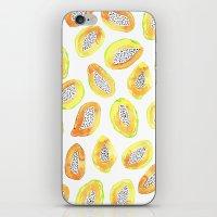 Papaya iPhone & iPod Skin