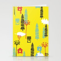 Natural Pattern - Yellow… Stationery Cards