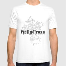 Hollycross Logo White Mens Fitted Tee SMALL