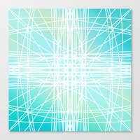 Linear Oceanblast Canvas Print