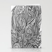 Garden of fine lines Stationery Cards
