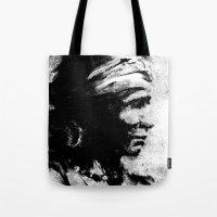 Stark - Native American Indian Portrait in B&W Tote Bag