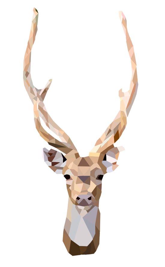 Geo Deer Art Print
