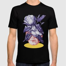 hidden face SMALL Mens Fitted Tee Black
