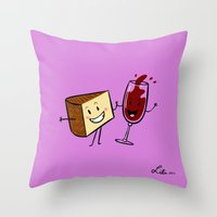 Manchego & Red Wine Throw Pillow
