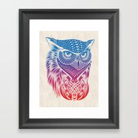 Owl Of Color Framed Art Print