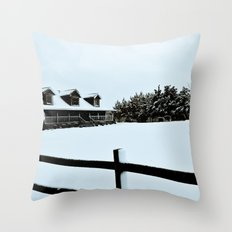 Touched by Snow Throw Pillow