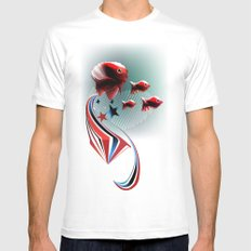 Angel Fish SMALL White Mens Fitted Tee