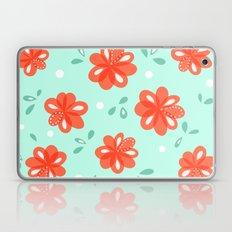 Cheerful Red Flowers Pat… Laptop & iPad Skin