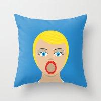Blow Up Pin Up Throw Pillow