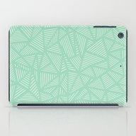 iPad Case featuring Geo Lines Mint by Project M