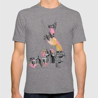 Filled With City Mens Fitted Tee Tri-Grey SMALL