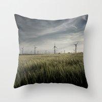 Wind Mils Throw Pillow