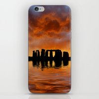 Stonehenge Sunrise, Wiltshire iPhone & iPod Skin