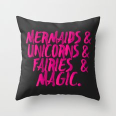 The Magical Creatures Throw Pillow