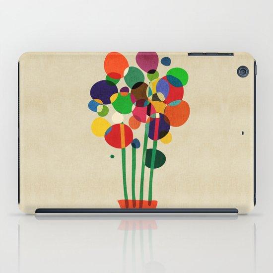Happy flowers in the vase iPad Case