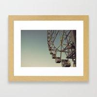 Ferris Wheel to Heaven Framed Art Print