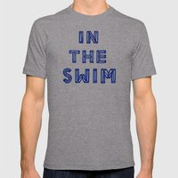 In The Swim Mens Fitted Tee Athletic Grey SMALL